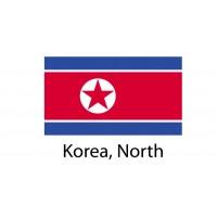 Korea North Flag sticker die-cut decals