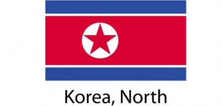 Korea North Flag sticker die-cut decals