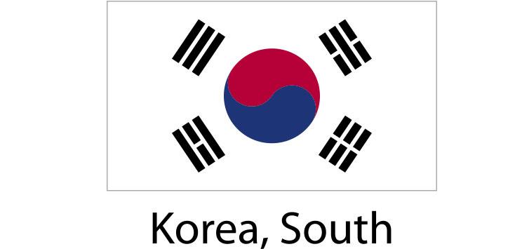 Korea South Flag sticker die-cut decals