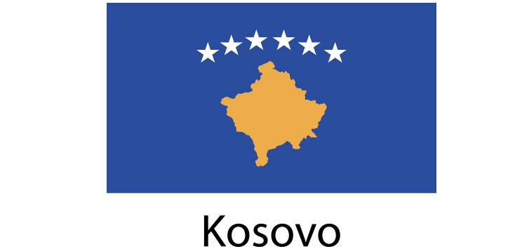 Kosovo Flag sticker die-cut decals
