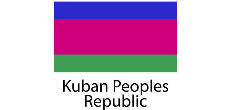Kuban Peoples Republic Flag sticker die-cut decals