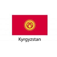 Kyrgyzstan Flag sticker die-cut decals