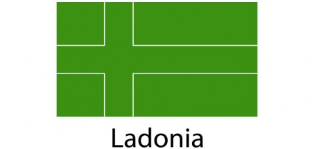 Ladonia Flag sticker die-cut decals