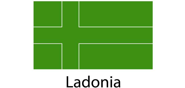 Ladonia Flag sticker die-cut decals
