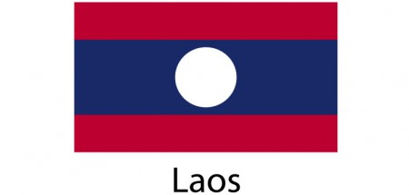 Laos Flag sticker die-cut decals