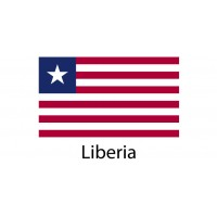 Liberia Flag sticker die-cut decals