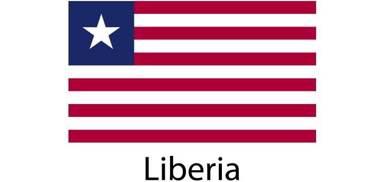 Liberia Flag sticker die-cut decals