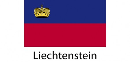 Liechtenstein Flag sticker die-cut decals
