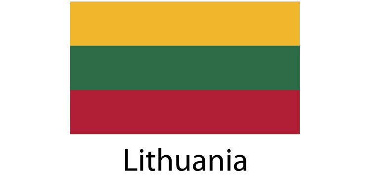 Lithuania Flag sticker die-cut decals