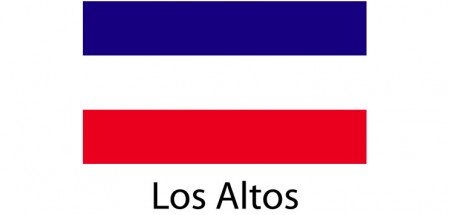 Los Altos Flag sticker die-cut decals