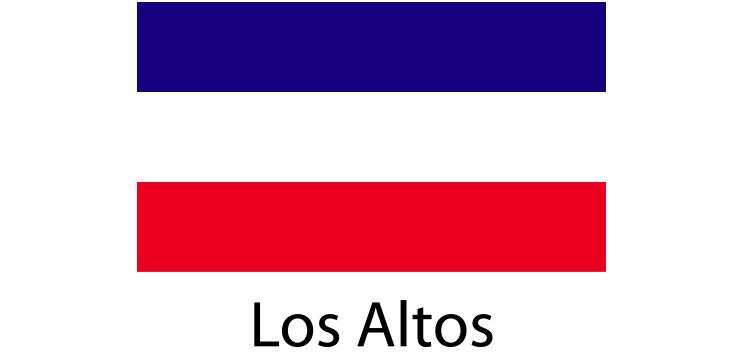 Los Altos Flag sticker die-cut decals