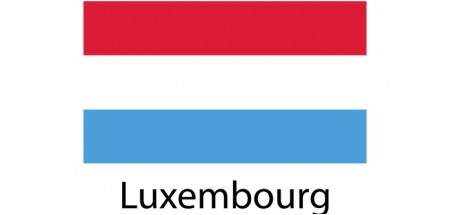 Luxembourg Flag sticker die-cut decals