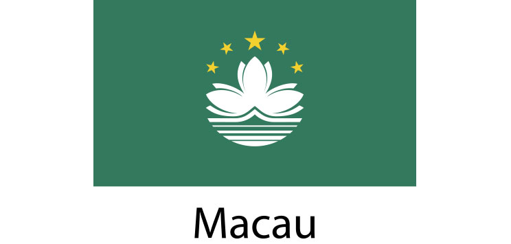 Macau Flag sticker die-cut decals