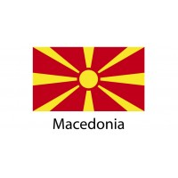 Macedonia Flag sticker die-cut decals