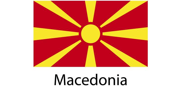 Macedonia Flag sticker die-cut decals