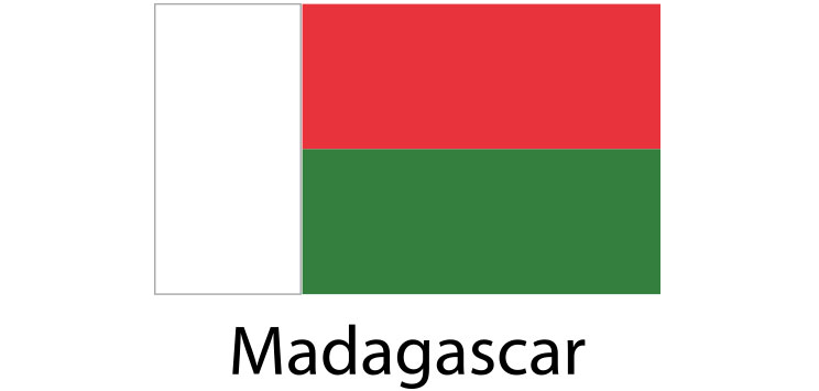 Madagascar Flag sticker die-cut decals