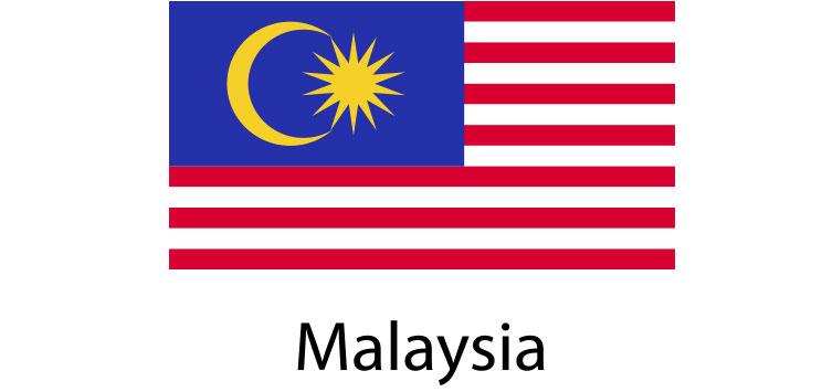 Malaysia Flag sticker die-cut decals