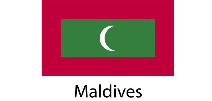 Maldives flag sticker die cut decals