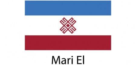Mari El Flag sticker die-cut decals