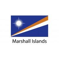 Marshall Islands Flag sticker die-cut decals