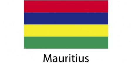Mauritius Flag sticker die-cut decals
