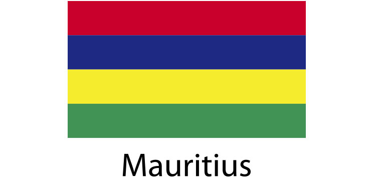 Mauritius Flag sticker die-cut decals