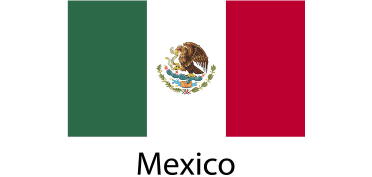 Mexico Flag sticker die-cut decals