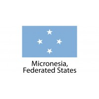Micronesia Federated States Flag sticker die-cut decals