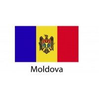 Moldova Flag sticker die-cut decals