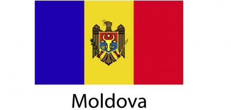 Moldova Flag sticker die-cut decals