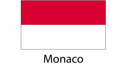 Monaco Flag sticker die-cut decals