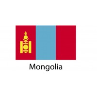 Mongolia Flag sticker die-cut decals