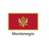 Montenegro Flag sticker die-cut decals