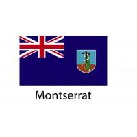 Montserrat Flag sticker die-cut decals