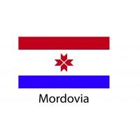 Mordovia Flag sticker die-cut decals