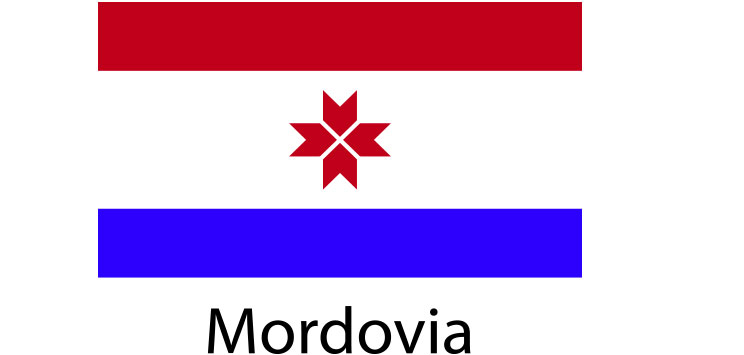 Mordovia Flag sticker die-cut decals