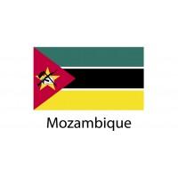 Mozambique Flag sticker die-cut decals