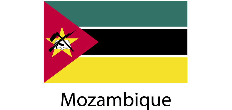 Mozambique Flag sticker die-cut decals