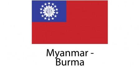 Myanmar Burma Flag sticker die-cut decals