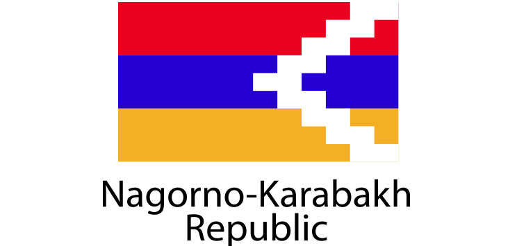 Nagorno Karabakh Republic Flag sticker die-cut decals