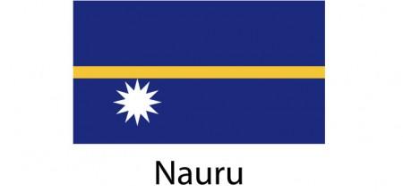 Nauru Flag sticker die-cut decals