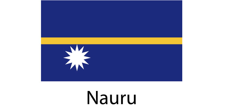 Nauru Flag sticker die-cut decals