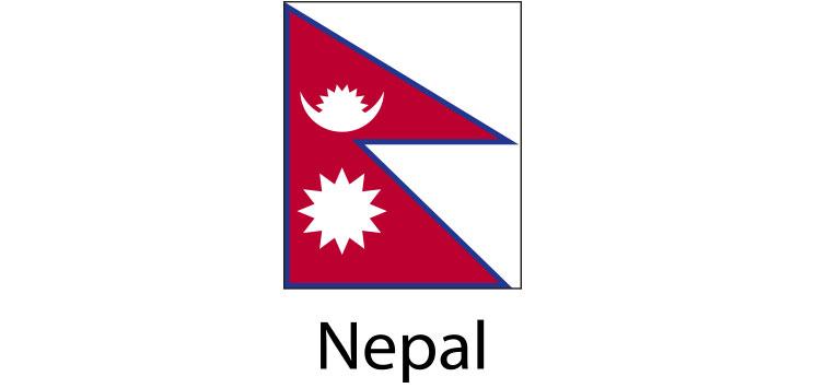 Nepal Flag sticker die-cut decals