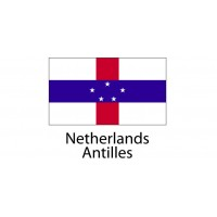 Netherlands Antilles Flag sticker die-cut decals