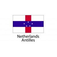 Netherlands Antilles Flag sticker die-cut decals