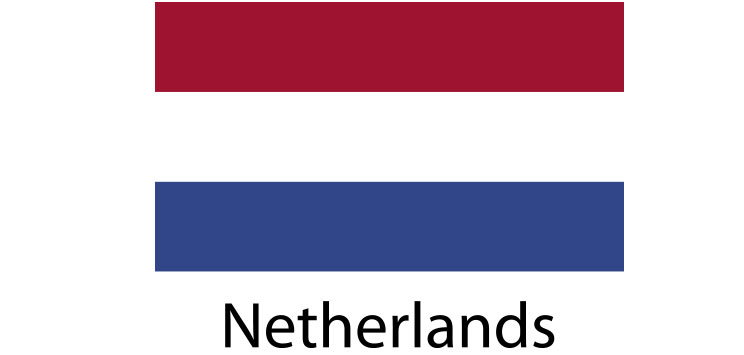 Netherlands flag sticker die cut decals