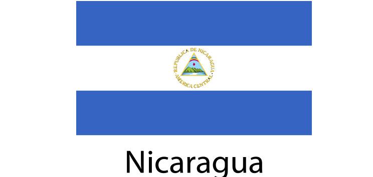 Nicaragua Flag sticker die-cut decals