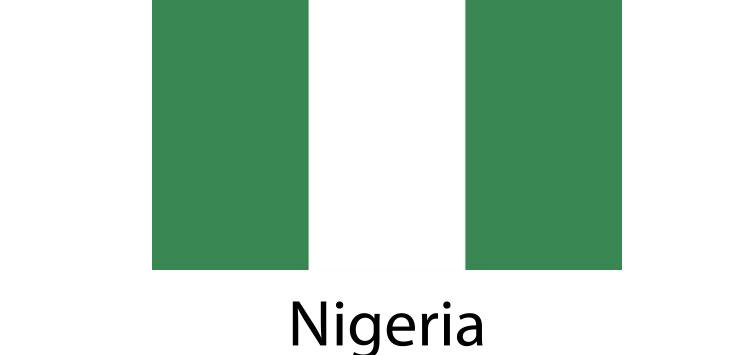 Nigeria Flag sticker die-cut decals