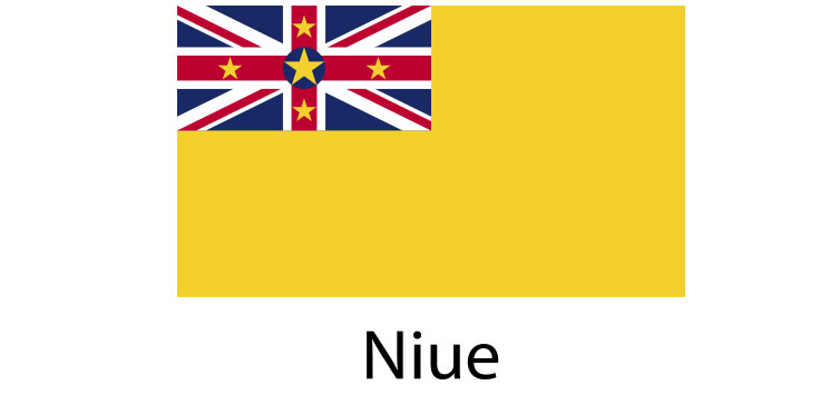 Niue Flag sticker die-cut decals