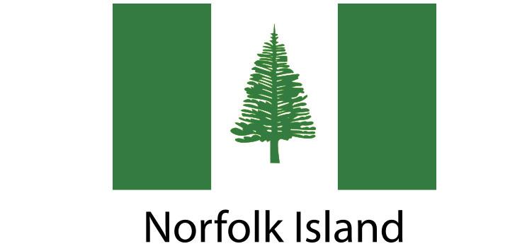 Norfolk Island Flag sticker die-cut decals